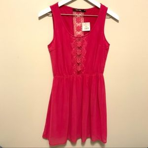 Altar'd State Doe and Rae Pink Sleeveless Dress